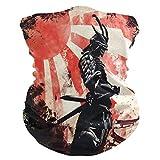 BEETTY Neck Face Protection Mask Bandanas Headband Art Japanese Warrior Magic Hairband Head Scarf Wrap Headwear Sports Outdoor