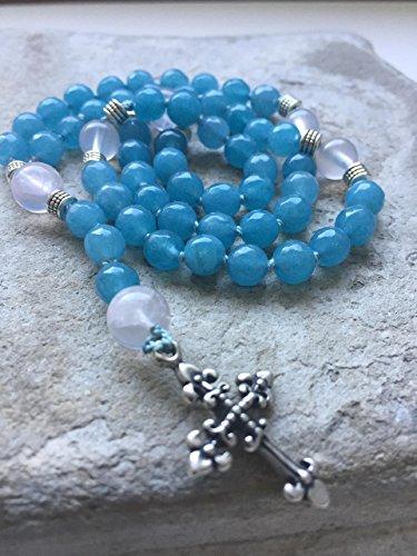 Aquamarine & Rose Quartz Rosary