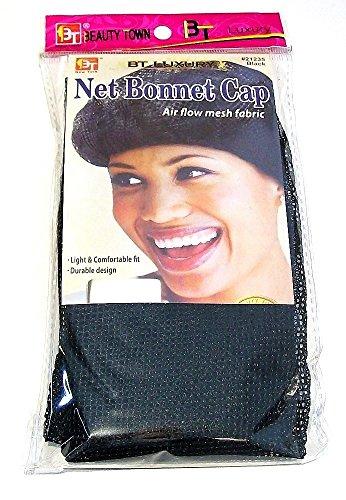Net Bonnet Casquette en tissu maille Taille unique – Noir