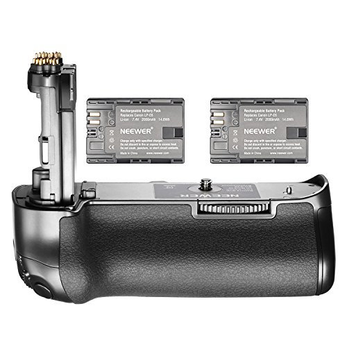 Neewer NW-5D Mark IV Replacement Canon BG-E20 Battery Grip with 2 Pack Rechargeable 7.4V 2000mAh LP-E6 Batteries, Suitable for Canon EOS 5D Mark IV DSLR Camera Body