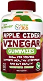 Feel Great 365 Apple Cider Vinegar Gummies for Kids & Adults | Complete Natural Detox, Digestive Support, Appetite Suppressant Supplement* | Includes'The Mother' for Gut Health & Immunity Support*