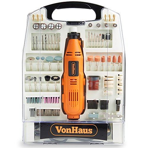 VonHaus 135W Rotary Multitool with 232pc Accessory Kit - Dremel Compatible - Variable Speed Control - DIY Hobby Woodwork Craft – Multi Function