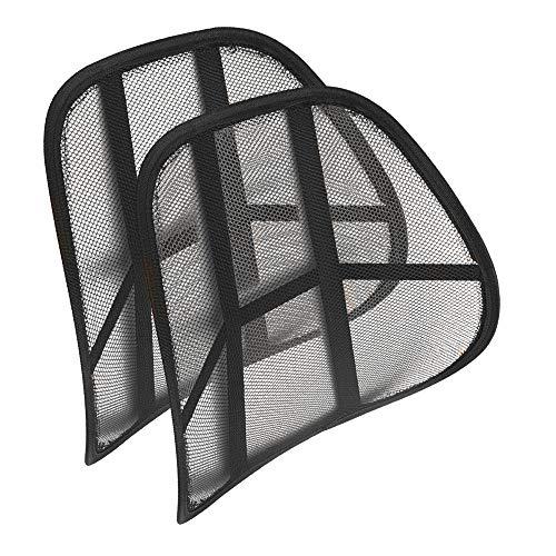 EUROXANTY Soporte Lumbar   Soporte para la Espalda   Respaldo Lumbar   Cojín Lumbar   Cojín Lumbar para Silla de Oficina, Coche o Hogar   Negro   43 cm