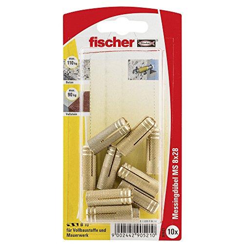 Fischer Messingdübel MS 8 x 28 K SB-Karte, 090521