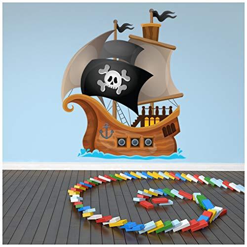 Pegatina decorativa con barco pirata.