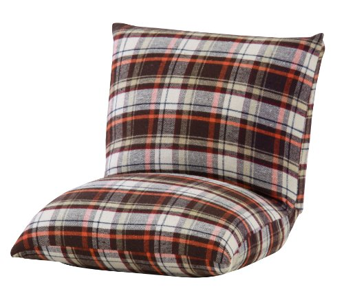 Azumaya Compact Kotatsu Floor Cushion Chair RKC-927BR Brown Check design