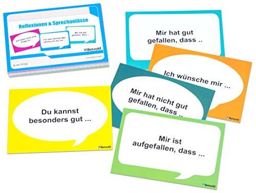 Betzold 757308 - Lernkarten zur Reflexion und Sprechanlässe - Kinder sprechen Lernen