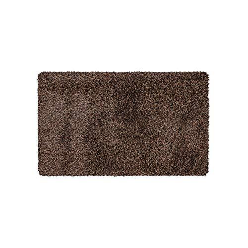 Magic Mat 50x90cm, Marrón • Felpudo de Microfibra Ultra Absorbente, Lavable y Antideslizante • Muy Fino, Cabe Debajo de Casi Cualquier Puerta