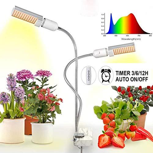 HH LED Grow Light, 45W Pflanzenlicht für Zimmerpflanzen, 160PCS LED Sunlike Full Spectrum Pflanzenwachstumslampe für Sämling Blooming Fruiting, Schraubzwinge