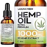 Lagunamoon Hemp Oil 1000MG for Sleep, Anti-Anxiety and Anti-Stress, Ultra Premium Hemp Seed Oil Help with Skin & Hair, Vegan Friendly