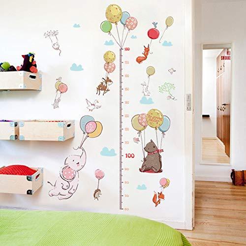 Autocollant Mural Créatif Ballon Animal Enfant Hauteur Mesure Enfant Chambre Garde-Robe Fox Lapin Croissance Up Chart Ruler Pour La Maison