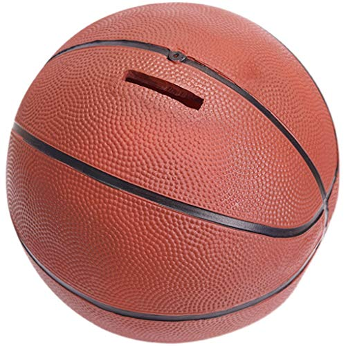 LXX Sparbüchsen Basketball-Geld-Bank, Harz Piggy Bank Kreative Persönlichkeit Sparschwein, Anti-Fallen-Ornamente Geschenk-Münz-Bank spardosen (Color : Basketball)