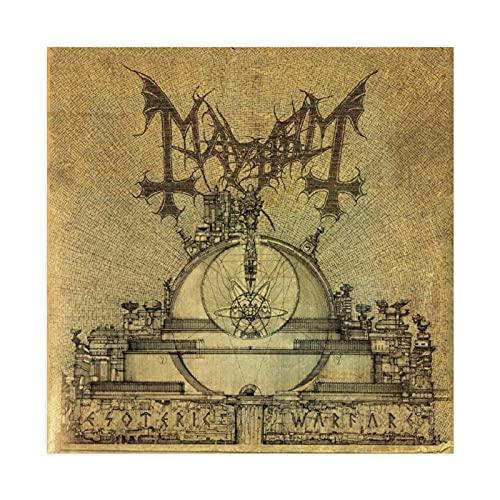 Póster de lona de guerra esotérica de Mayhem para dormitorio, decoración deportiva, paisaje, oficina, habitación, decoración, regalo, 70 x 70 cm
