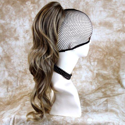 Superbe Clip Extension de cheveux Queue de Cheval Longue et Ondulée Marron