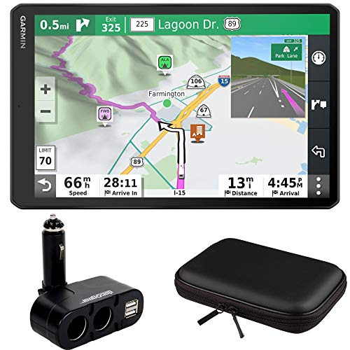 Garmin RV 1090 10' RV GPS Navigator (010-02425-05) w/ 10' Case Hard Shell & More Bundle