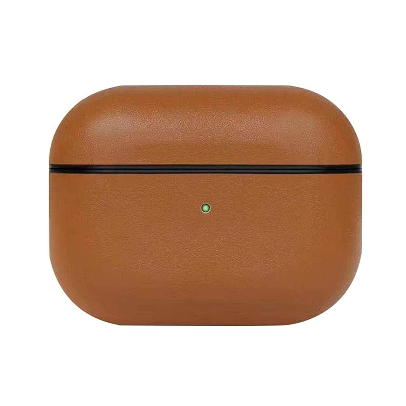 衣装ストラトフォードオンエイボン怒っているHMSH 完全な保護プレミアムカバー、防水ワイヤレスBluetoothヘッドセットケースカバーを充電プロAirPods用レザーケースカバー、 ヘッドホンパッド (Color : Brown)