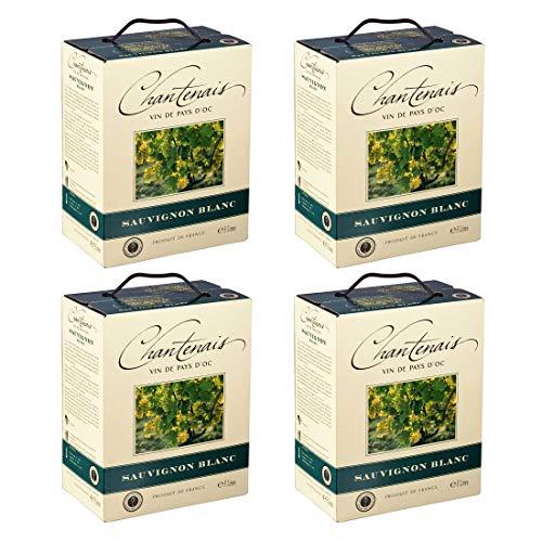 Bag-in-Box - Vin de France - Sauvignon - BARONNE EOLIE VDF SAUVIGNON BLANC - Chantenais - Frankreich - Im Süden Frankreichs - Weißwein, trocken, Box mit:4 Boxen