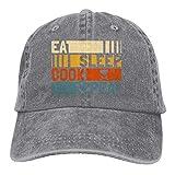 Duyhat Unisex Eat Sleep Cook Repeat Denim Jeanet Baseball Cap Adjustable Sunbonnet For Men Or Women