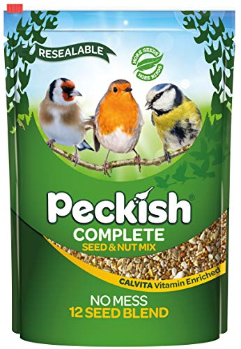 Peckish Complete Seed and Nut No Mess Wild Bird Food Mix, 2 kg