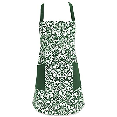 DII Cotton Adjusatble Women Kitchen Apron with Pockets and Extra Long Ties
