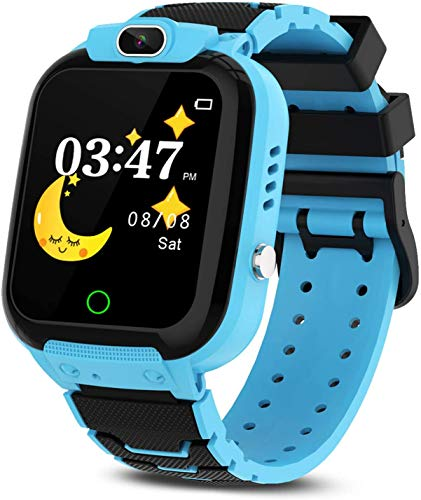 Winnes Smartwatch für Kinder, Mädchen, mit Spielen, Musik, Taschenrechner, Geburtstagsgeschenk für Jungen von 3 bis 12 Jungen