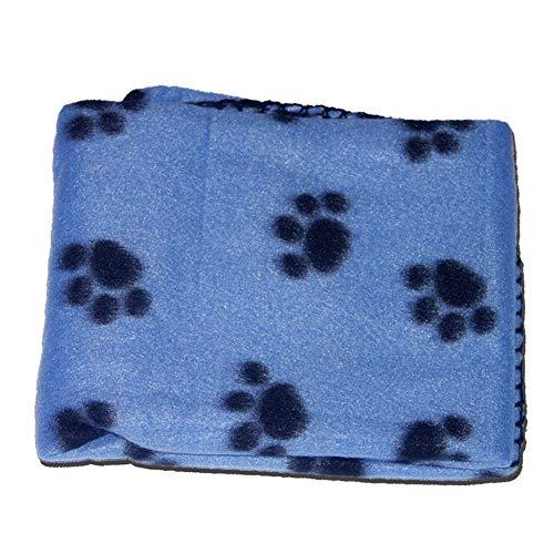 NorCWulT Manta para Mascotas Aplicaciones de Patas 70 * 60cm Caliente Perro paño Grueso y Suave del Gato Manta para Dormir Cama Cubierta Gatito Manta Suave del Perrito