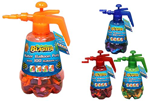 Toyland Hydro Storm Blaster Water Balloon Pump with Multicoloured 100 Balloons