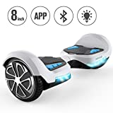 TOMOLOO Hoverboard with App and LED Lights Two-Wheel Bluetooth Self...