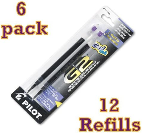 Pilot G2 Gel Ink Refill Ranking TOP5 for Pens 67% OFF of fixed price Fine Point Rolling Ball Purp