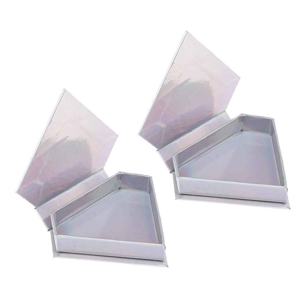 DYNWAVE まつげケース 空まつげ収納ケース ボックス 約11×9.3×2.3 cm 耐久性 2パック