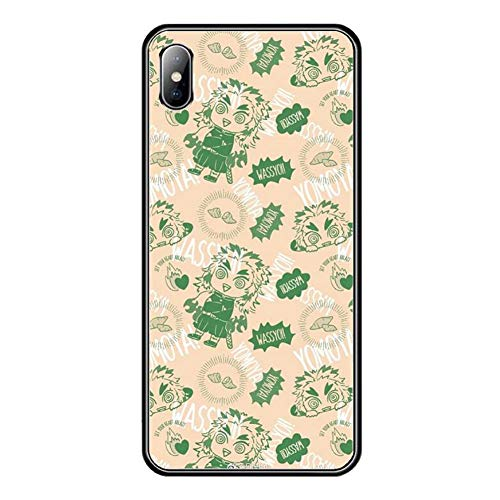 鬼滅の刃iPhone用ケース,キメツノヤイバ煉獄 杏寿郎アイフォンケースかわいい強化ガラス保護カバーiphone7 8 XS 11 11Pro 用