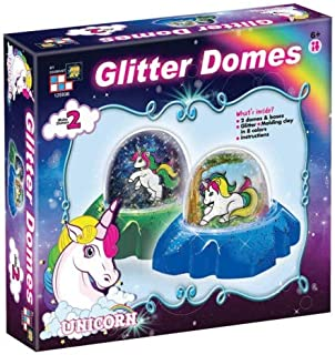 AMAV Toys DIY Originals Glitter Domes - Make Your Own Unicorn Snow Globe Kit - Increases Creativity Imagination & Motor Skills - Perfect Christmac Present for Kids Aged 6+