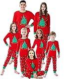 Family Matching Christmas Pjs Christmas Tree Boys Girls Pajamas Kids Sleepwear Size 8 Red