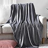 EHEYCIGA Fleece Blanket Throw Size Flannel Blanket Couch Grey...