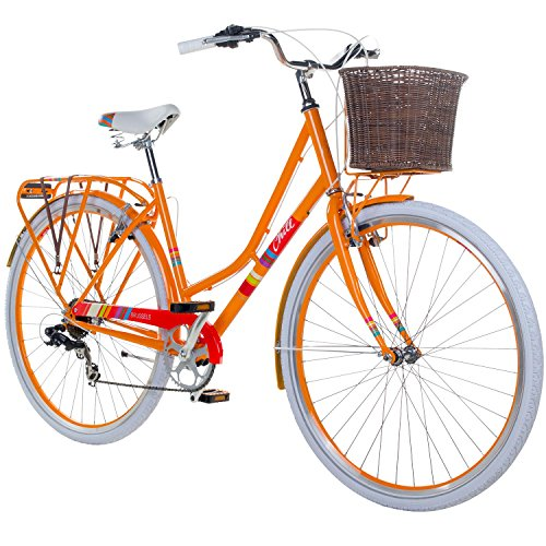 28 Zoll Chill Damenrad Citybike Fahrrad Hollandrad Damenfahrrad 7 Gang, Farbe:orange, Rahmengrösse:19 Zoll