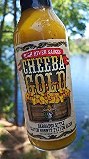 High River Sauces Cheeba Gold Barbados Style Scotch Bonnet Pepper Sauce (12 Pack)