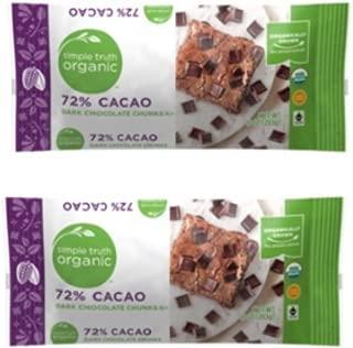 simple truth organic 72 cacao dark chocolate chunks