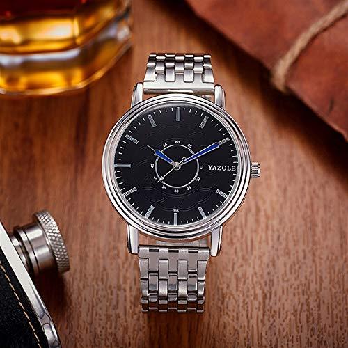 DAZHE Militäruhren Quarz Armbanduhren, 305 yazole Stahlband Uhr Herrenuhr Quarzuhr Herrenuhr Herren Quarzuhr (Color : 2)