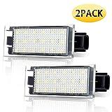 Audew Feu Plaque d'immatriculation LED Blanc 12V pour Voiture 18 LED SMD haute puissance pour ampoule