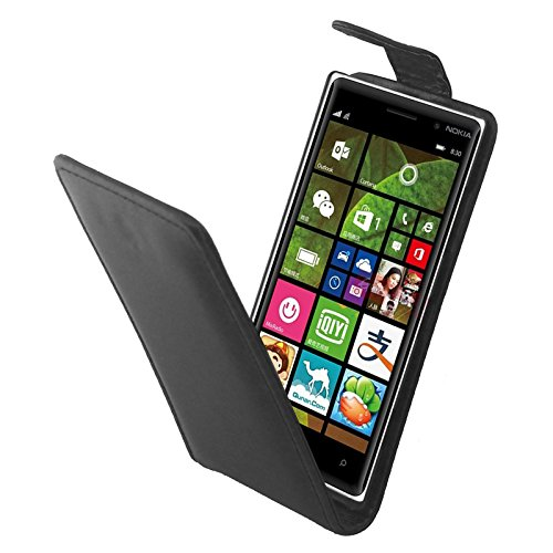 GBHGBH Custodie telefoniche Custodia in Pelle con Pulsante Magnetico a Vibrazione Verticale for Nokia Lumia 830