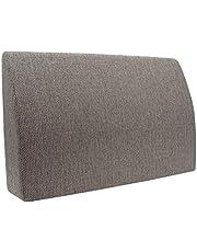 Formalind Respaldo para cama y sofá 70 X 45 X 15 CM//Cojines traseros para ver televisión y leer en diseño fino hecho de tela fina de tapicería (bronceado)