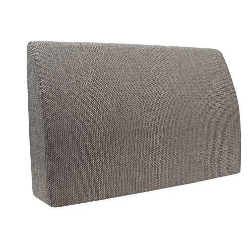 Formalind - Cuscino per letto e divano, 70 x 45 x 15 cm, per guardare la televisione e leggere, design elegante, in tessuto imbottito, Poliestere, marrone, 70 x 45 x 15 cm