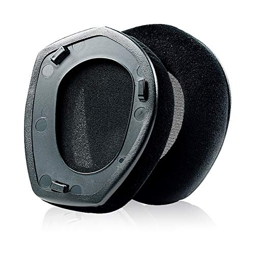 Oriolus Replacement Ear Pads Compatible with Sennheiser RS 175 RS 185 RS 195 RF Wireless Headphone - Flannelette Black