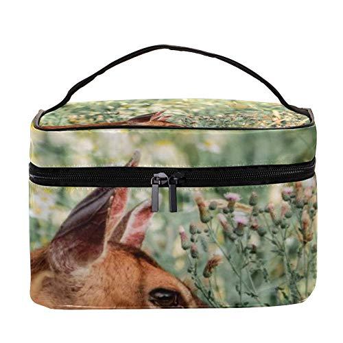 TIZORAX Wild Deer Graze Kosmetiktasche Travel Toiletry Case Große Make-up Organizer Box