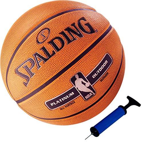 Spalding Basketball NBA Platinum Outdoor Streetball Größe 7 + Ballpumpe