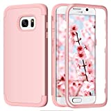 BENTOBEN Coque Samsung S7 Edge, Coque Galaxy S7 Edge, Coque de Protection Complète Antichoc Résistante Robuste Bumper 3 in 1 en PC Durable et Silicone pour pour Samsung Galaxy S7 Edge, Rose