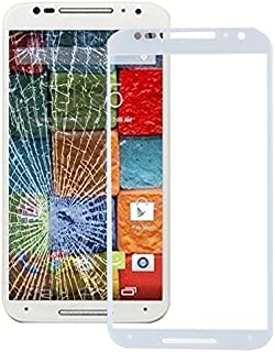 Mobile Phones Communication Accessories Front Screen Outer Glass Lens for Motorola Moto X(2nd Gen.)(Black) (Color : White)