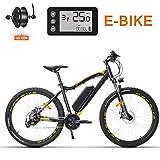 XFY 27.5 Pouces Roues Fat Tire Vélo Électrique - 21 Vitesse E-Bike - 400W 48V E-Bike, Plage Cruiser Hommes Femmes Montagne E-Bike Pedal Assist