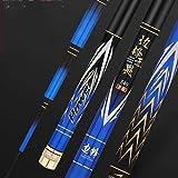 LJXLXY Fishing Rod Holder Fishing Rod Hand Pole Super Light Super Hard Taiwan Fishing Rod Black Pit Rod Carp Carbon Fishing Rod Fishing Rod and Reel Combo (Size : 4.5meters)