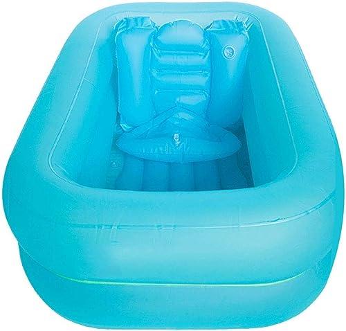 Aufblasbarer Pool, Tragbare Aufblasbare Kinderbadewanne, Rutschfester Aufblasbarer Sicherheitspool 90 × 60 × 25 Cm
